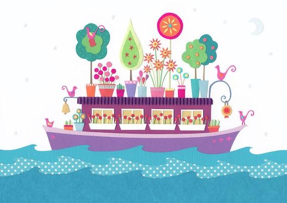 Houseboat - giclee art print