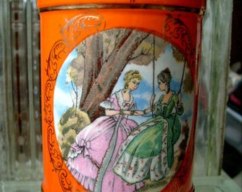 Vintage Orange Enesco Vase Made in Japan Bright Cheerful