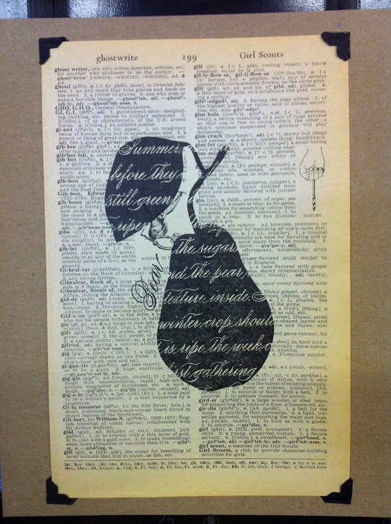 Mini Poster - Dictionary Pear