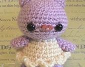 kawaii amigurumi pig pattern, crochet piglet piggy stuffed toy tutorial, instant download
