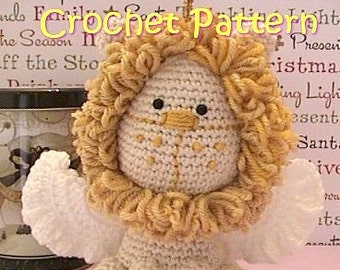 winged lion crochet pattern, amigurumi crochet plush angel Lion stuffed toy tutorial, instant download
