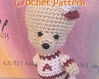 baseball bear crochet pattern, amigurumi pattern stuffed plush toy bear tutorial, PDF guide, instant download
