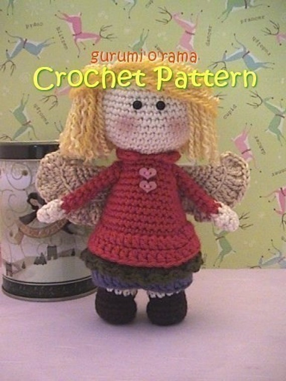 Angel Amigurumi Tutorial : crochet pattern angel doll crochet amigurumi pattern kawaii