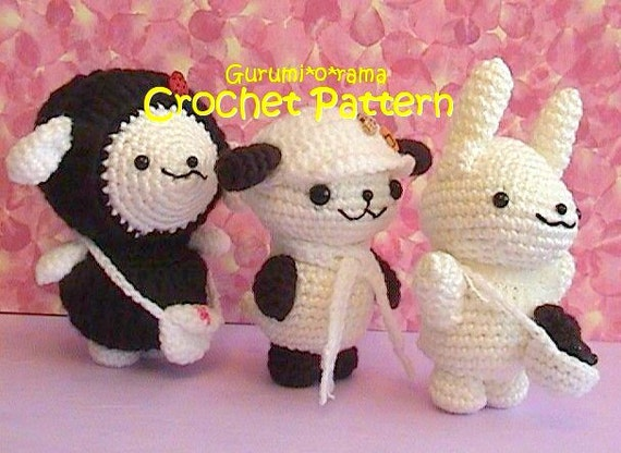 Amigurumi Sheep Tutorial : crochet sheep pup bunny pattern amigurumi crochet plush toy