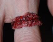 Zombie costume Jewelry - Chopped Flesh Ring 1- Creepy Cute Zombie