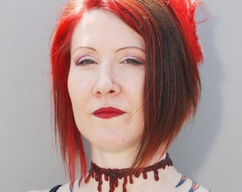 Zombie Costume - Bloody Drip  choker necklace - Dark