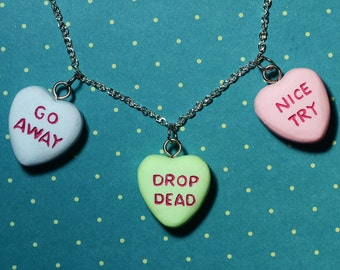 Candy Heart Necklace  - Triple Heart Combo