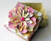 Elegant Handmade Paper FLOWER Decorated ORIGAMI Gift BOX