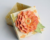 Unique Handmade Paper FLOWER Decorated ORIGAMI Gift BOX
