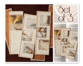 Notions, Set of 3 Fabric Photo Bookmarks
