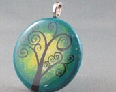 hand painted pendant