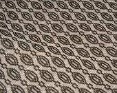 "vintage 60s geometric black white polyester fabric 59"" x 100"""
