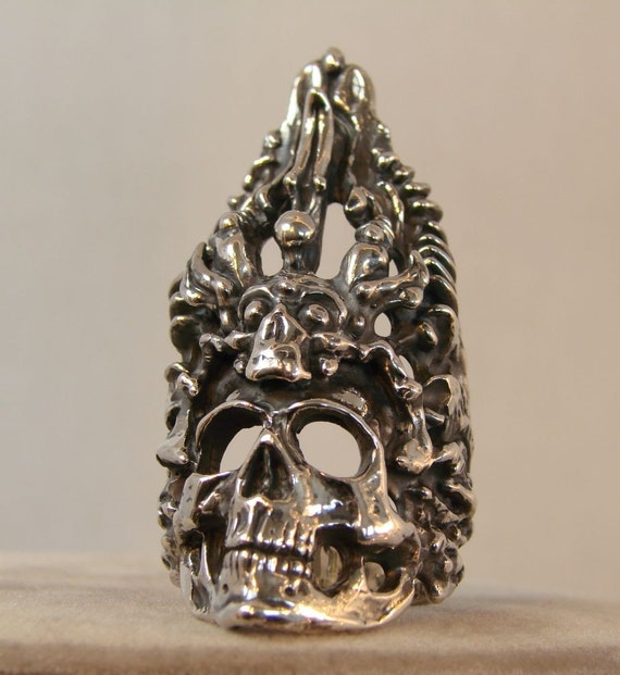 High Priest - Very Large Sterling Silver Ring -171