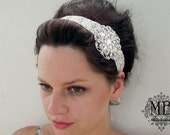 40% OFF Glamorous and Sparkle Bridal Head Piece / Headband with Swarovski Elements  by Mauve Binchely