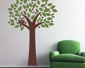 Owl in a tree Vinyl Wall Decal, Tree Wall Decal, Vinyl Decals, Owl Tree, Children Wall Art