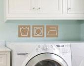 Retro Style Laundry Wall Decals, Laundry Wall Art, Laundry Room Decor
