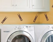 Clothespins - Viny Wall Decals - Laundry Room