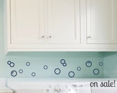 ON SALE Bubbles - Viny Wall Decals - Navy Blue