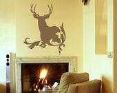 Out of the Woods-Deer Vinyl Wall Decal - Christmas in July Sale
