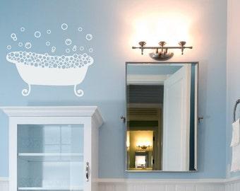 Bathroom Wall Decal, Bubbles Wall Decal, Bathroom Wall Art, Bathtub Vinyl Decal, Bath Vinyl Wall Decal, Bathroom Wall Sign