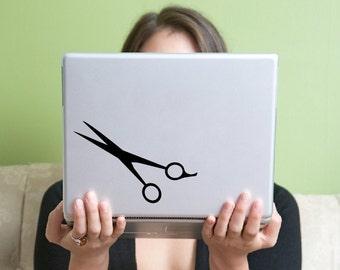Hair Stylist Scissors Laptop Vinyl Decal