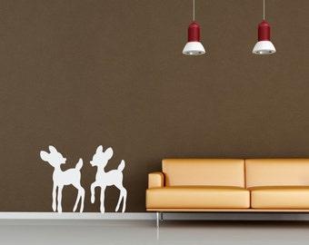 Woodland Deer Vinyl Wall Decal