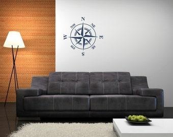 Nautical Compass, Compass Rose, Nautical Nursery, Nursery Wall Decals, Boys Wall Decals