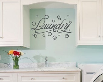 Wall Decal, Laundry Room Wall Decal, Bubble Wall Stickers, Laundry Room Decor, Laundry Room with Bubbles