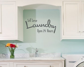Self Serve Laundry Room Decal, Laundry Room Decal, Wall Decals, Laundry Room Decor