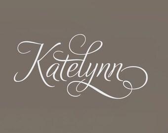 Swirly Custom Name Decal - Baby Nursery Children