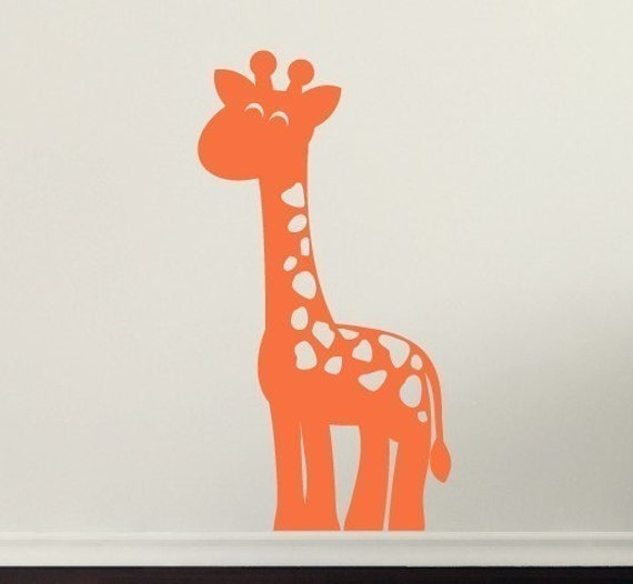 Items Similar To Giraffe Wall Decal Boys Vinyl Decals