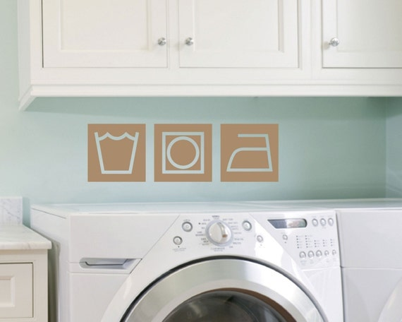 Retro Style Laundry Wall Decals, Laundry Wall Art, Laundry Room Decor