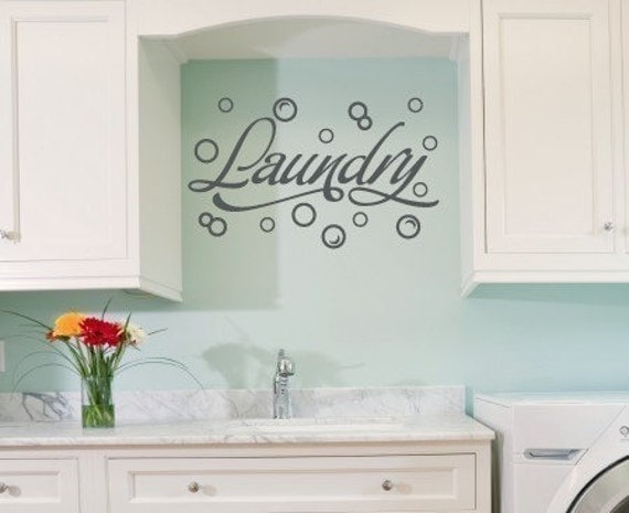 Laundry Room Wall Appliques Entrancing Wall Decal Laundry Room Wall Decal Bubble Wall Stickers 2017