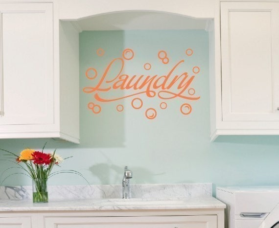 Wall Decal Laundry Room Wall Decal Bubble Wall Stickers - Vinyl decals for walls etsy