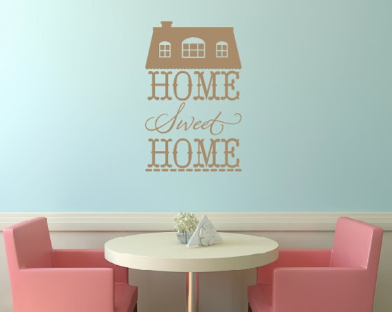 Awesome Items Similar To Home Sweet Home Vinyl Wall Decal On Etsy Part 13