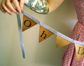Wooden Bunting - Oh Darling