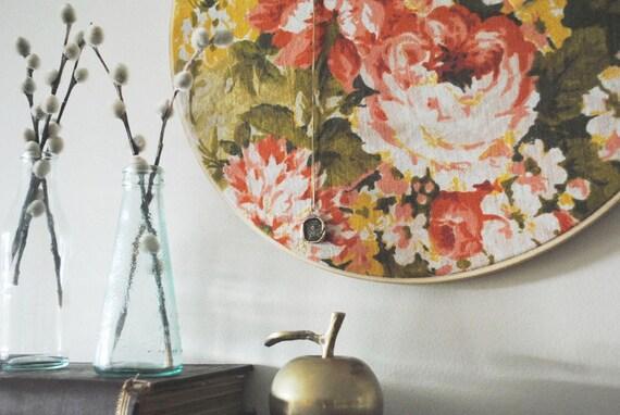 SALE - Large Chrysanthemum Hoop Pinboard