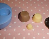 Kawaii Flexible Triple Puddings Mold 11mm, 10mm, and 6mm For light weight clay (paper, resin, scupley III)