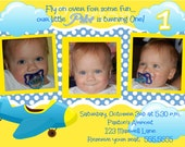 DIGITAL 1st Birthday Pilot Airplane You Print Birthday Invitation thank you cards and candy bar wrappers available