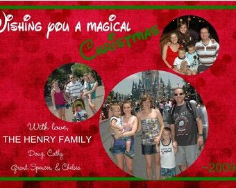 Digital Disney Mickey Mouse Christmas Photo Greeting Card