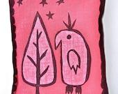 Cedar & clove sachet with a bird and tree under the stars