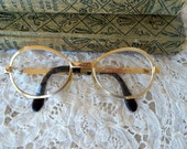 Big Round 1960's eyeglasses in Brush Gold