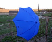 Vintage Umbrella Royal Blue Large Size with Automatic Pop Out.