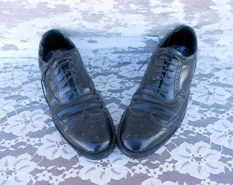 Florsheim Imperial Black Wingtip oxford lace up shoe size 9AA
