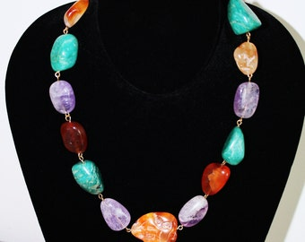 Chunky Multi-stone Necklace