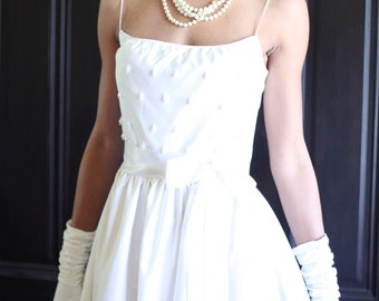 Vintage Bridal Gown with pearls
