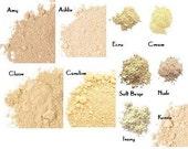 5 pc Mineral Makeup Starter Set - Cream Concealer - Loose Foundation - Shea Moisturizer - Light Caucasian Shades