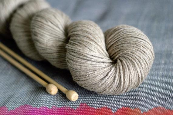 Undyed yarn DK, Natural Yak Camel, Natural Brown, 100g