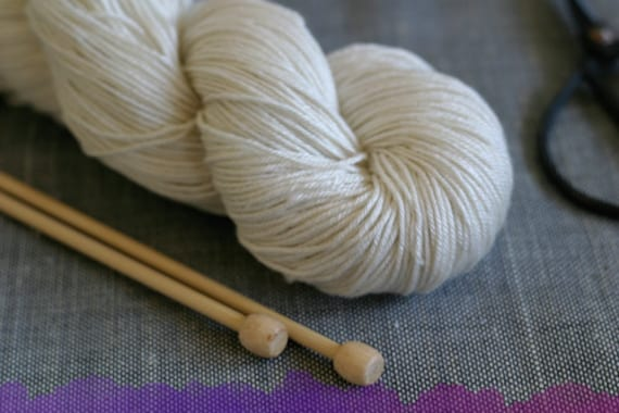 Undyed Yarn Sport Merino Silk Yarn - 100g