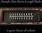 Short Fake Nails | Red Nude Black White Nails | Short Press On Nails | Active Length Nail | Choose Your Nail Color |  Petite Size Nails